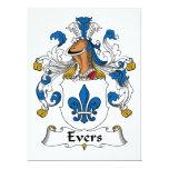 Escudo de la familia de Evers Invitación 16,5 X 22,2 Cm