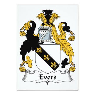 Escudo de la familia de Evers Invitación 12,7 X 17,8 Cm