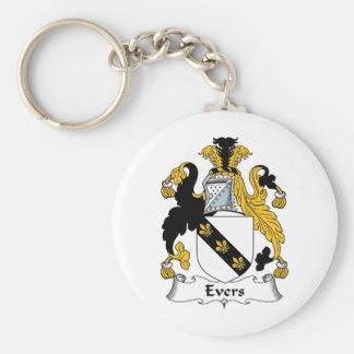 Escudo de la familia de Evers Llavero Personalizado