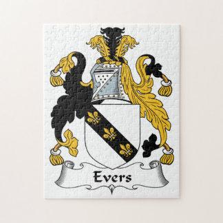 Escudo de la familia de Evers Puzzle Con Fotos