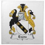 Escudo de la familia de Evers Servilletas