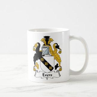 Escudo de la familia de Evers Tazas