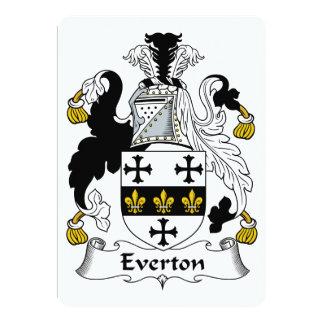 """Escudo de la familia de Everton Invitación 5"""" X 7"""""""