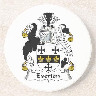 Escudo de la familia de Everton Posavasos Para Bebidas