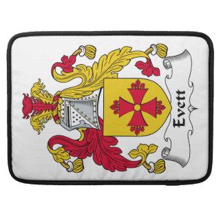 Escudo de la familia de Evett Funda Para Macbooks