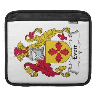 Escudo de la familia de Evett Fundas Para iPads