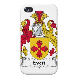 Escudo de la familia de Evett iPhone 4 Funda