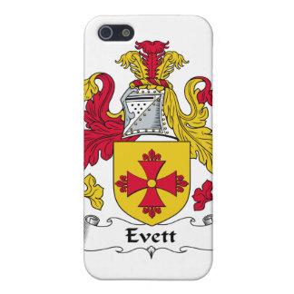 Escudo de la familia de Evett iPhone 5 Cárcasas