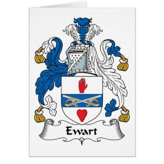 Escudo de la familia de Ewart Felicitacion
