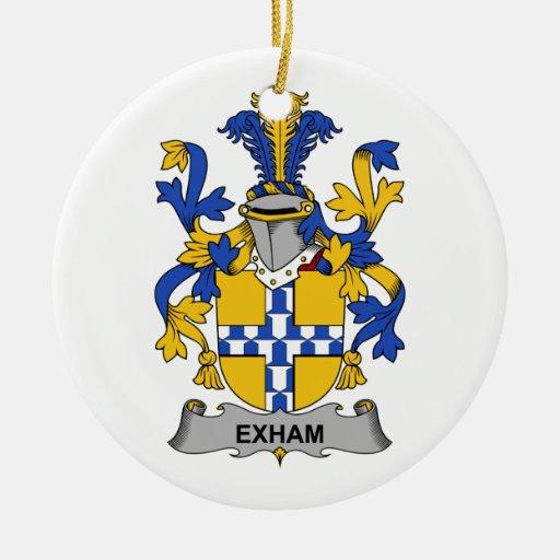 Escudo de la familia de Exham Adorno Redondo De Cerámica