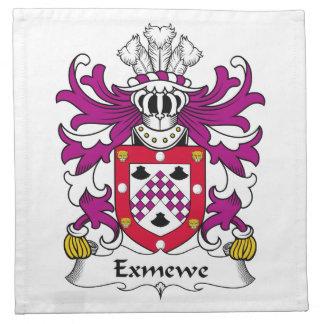 Escudo de la familia de Exmewe Servilleta De Papel