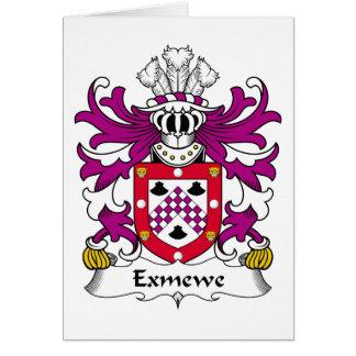 Escudo de la familia de Exmewe Tarjeta De Felicitación