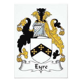 Escudo de la familia de Eyre Invitación 12,7 X 17,8 Cm