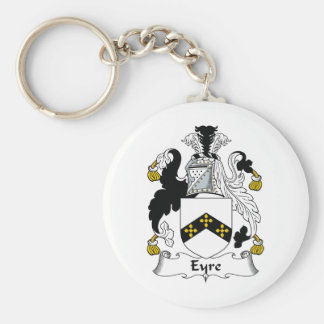 Escudo de la familia de Eyre Llavero Redondo Tipo Pin