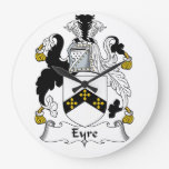 Escudo de la familia de Eyre Reloj De Pared