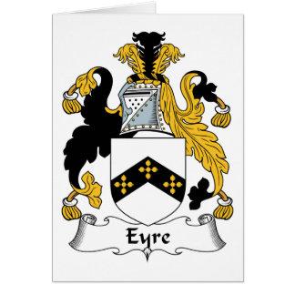 Escudo de la familia de Eyre Tarjeta