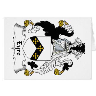 Escudo de la familia de Eyre Tarjeta De Felicitación