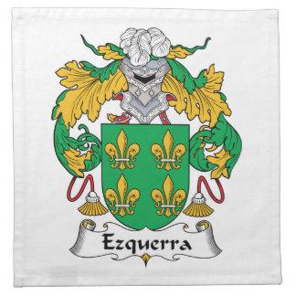 Escudo de la familia de Ezquerra Servilleta De Papel