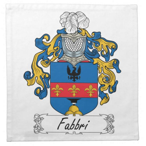 Escudo de la familia de Fabbri Servilletas