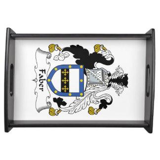 Escudo de la familia de Faber Bandejas