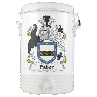 Escudo de la familia de Faber Vaso Enfriador Igloo