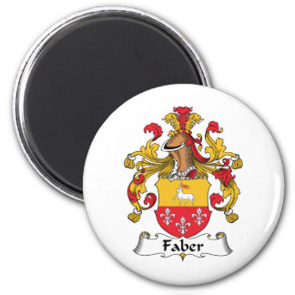 Escudo de la familia de Faber Imán Redondo 5 Cm