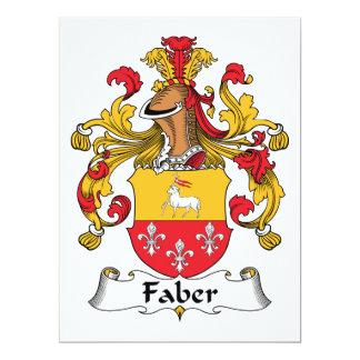 Escudo de la familia de Faber Invitación 16,5 X 22,2 Cm