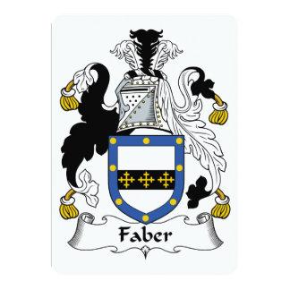 """Escudo de la familia de Faber Invitación 5"""" X 7"""""""