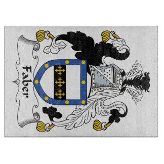 Escudo de la familia de Faber Tabla De Cortar