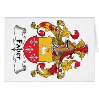 Escudo de la familia de Faber Tarjetón