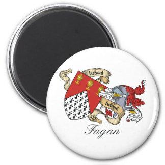 Escudo de la familia de Fagan Imán Para Frigorifico