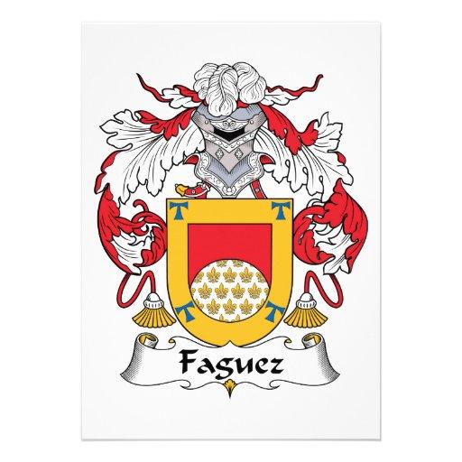 Escudo de la familia de Faguez Comunicado Personalizado