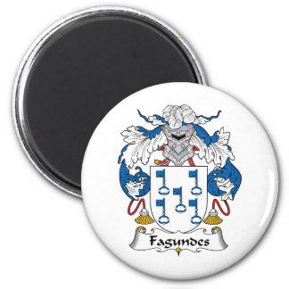 Escudo de la familia de Fagundes Imán Redondo 5 Cm