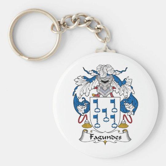 Escudo de la familia de Fagundes Llavero Redondo Tipo Pin