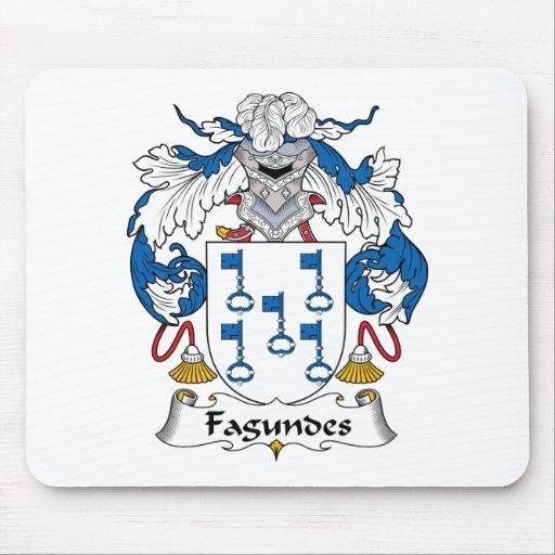 Escudo de la familia de Fagundes Alfombrillas De Ratón