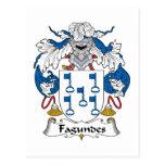 Escudo de la familia de Fagundes Tarjetas Postales
