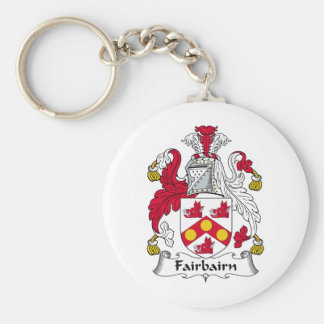 Escudo de la familia de Fairbairn Llavero Redondo Tipo Pin