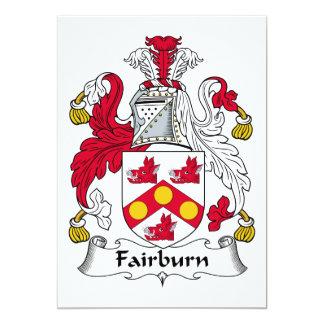 """Escudo de la familia de Fairburn Invitación 5"""" X 7"""""""