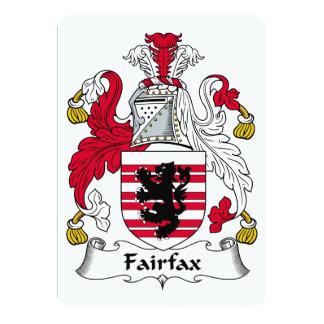 """Escudo de la familia de Fairfax Invitación 5"""" X 7"""""""