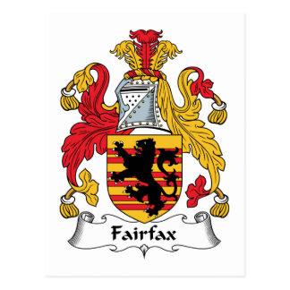 Escudo de la familia de Fairfax Tarjetas Postales