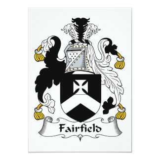 Escudo de la familia de Fairfield Invitación 12,7 X 17,8 Cm