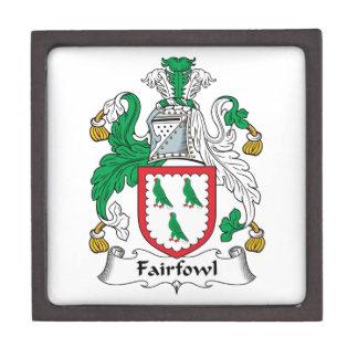 Escudo de la familia de Fairfowl Cajas De Joyas De Calidad