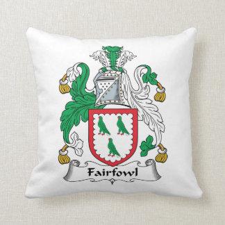 Escudo de la familia de Fairfowl Cojin