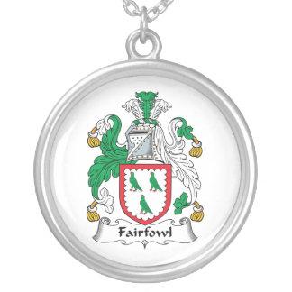 Escudo de la familia de Fairfowl Pendientes Personalizados