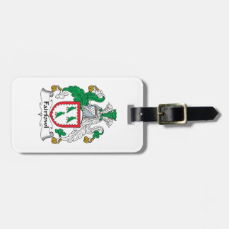 Escudo de la familia de Fairfowl Etiqueta De Maleta