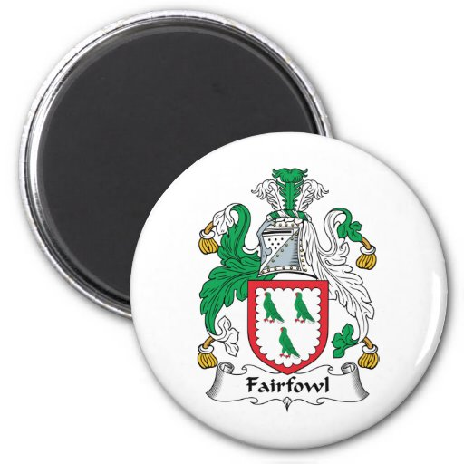 Escudo de la familia de Fairfowl Imán Para Frigorifico
