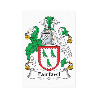 Escudo de la familia de Fairfowl Impresión De Lienzo