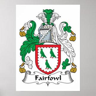 Escudo de la familia de Fairfowl Poster