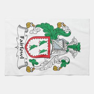 Escudo de la familia de Fairfowl Toallas De Cocina