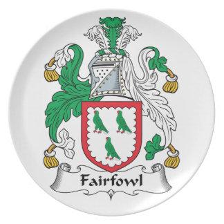 Escudo de la familia de Fairfowl Platos Para Fiestas